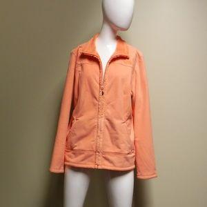 Women's The North Face Orange Zip Up Jacket Sz XL
